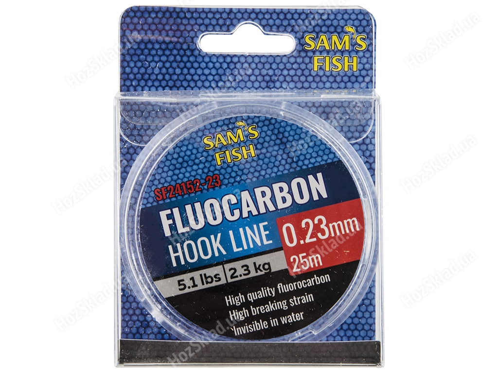 Леска Sam's Fish 100% Fluocarbon 2,3кг 25м D0,23мм