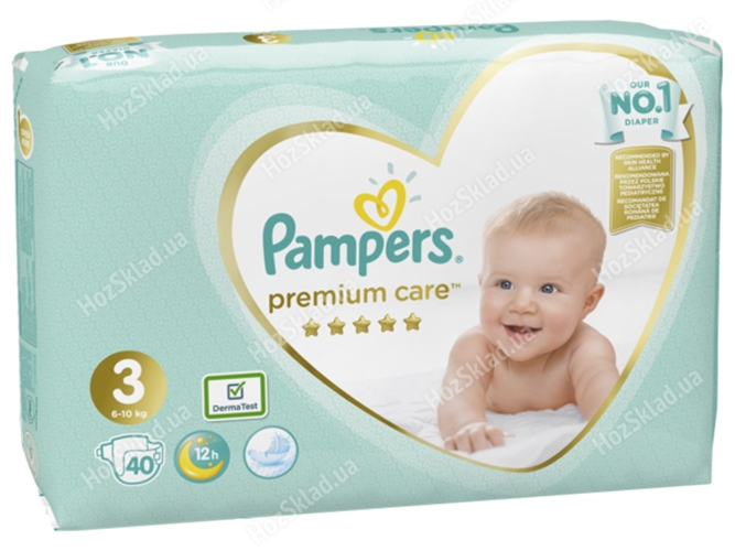 Подгузники Pampers Premium Care Midi (6-10кг) 40шт